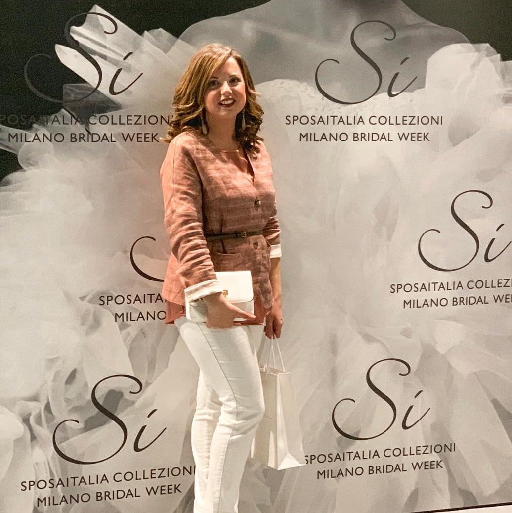Rossella Gnasso sfilata abiti sposa Milano