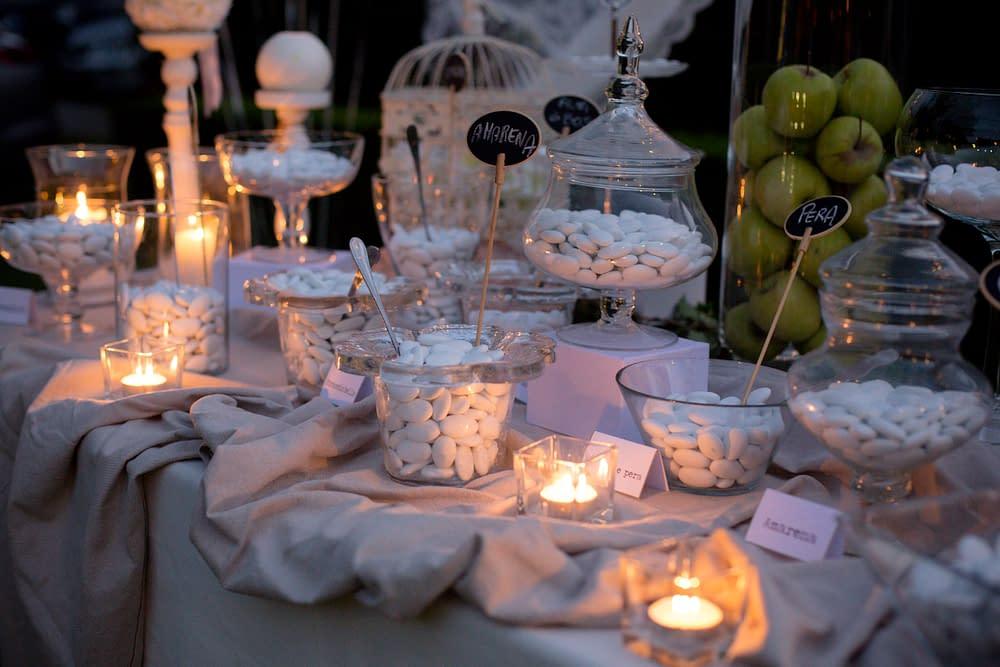 Confettata matrimonio colore bianco
