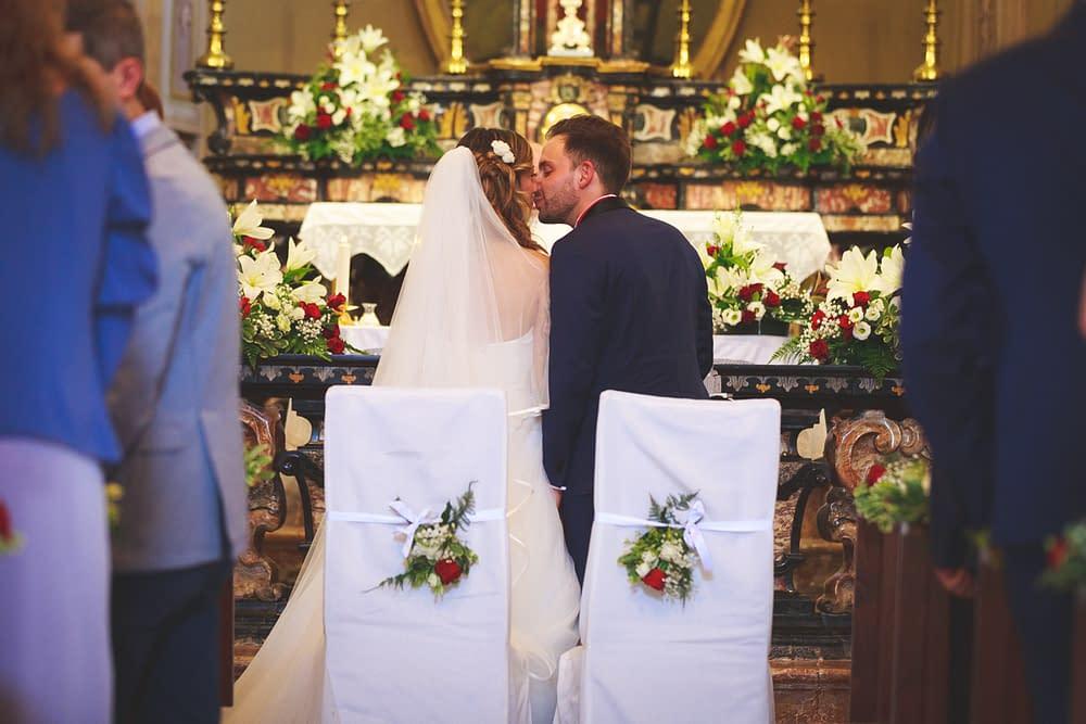 Allestimento chiesa sposi