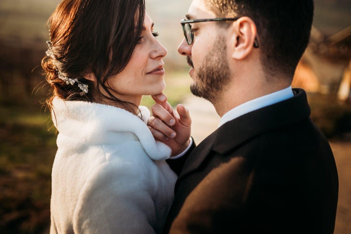[Real Wedding] Un matrimonio invernale in collina al profumo di vino rosso